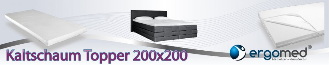 ergomed kaltschaum topper 200x200 jetzt g nstig kaufen. Black Bedroom Furniture Sets. Home Design Ideas